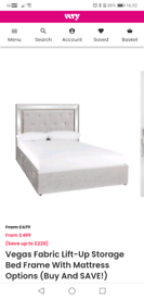 Double velvet bed frame. Only 6 moths old. Great condition