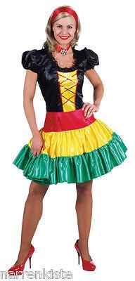 Flamenco Kostüm Kleid Damen Salsa Rio Spanierin Samba Sambakleid - Rio Samba Kostüm