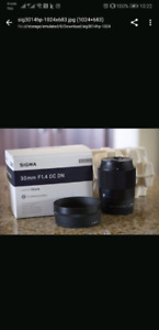 Sigma 30 MM for Sony E-mount