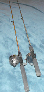 2 Pair-6 Foot Rods and Reels with new line-Bargain