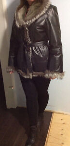 Super Cozy Leather and Fur Winter Jacket