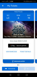 Rock of Ages single ticket