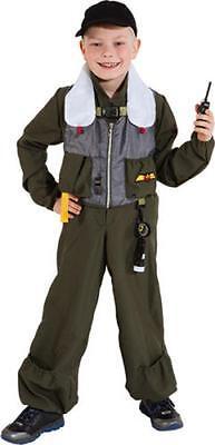 Jet Pilot Pilotenkostüm Pilotin Armee Anzug Kostüm Uniform Kinder Flieger (Armee Pilot Kostüm)