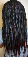 Box braids, weaves /crochets I got you