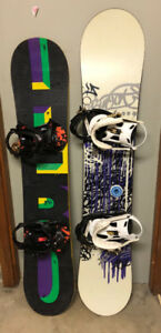 Kid's and Adult Snowboards