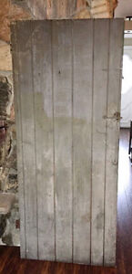 Antique Barn Door with ORIGINAL crackled paint and hardware