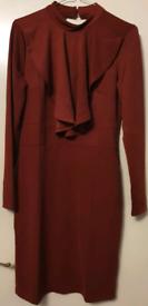 WINE COLOUR DRESS