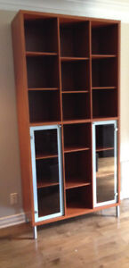 IKEA Shelf Unit with Glass doors