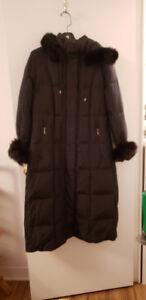 Black Down Long Winter Jacket