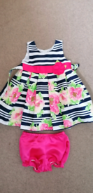 Toddler Girls Floral Summer Dress/Knickers Set by Jona Michelle.