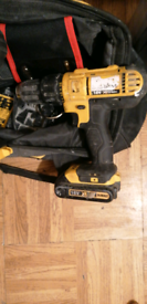 Dewalt combi drill with battery