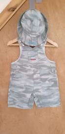Baby Boys 2-Piece Camo Dundees/Sun Hat Set by Rocha. Little Rocha. :
