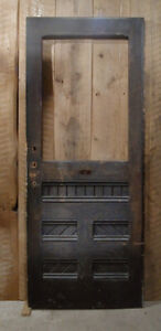 door - antique door for sale EXD D brownN slantedB panels