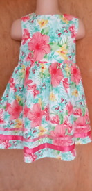 Toddler Girls Floral Print Summer/Party Dress by Tu Age: 18-24 months