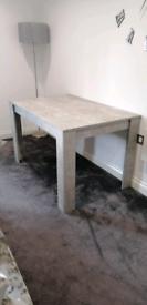 Wayfair concrete grey dining table