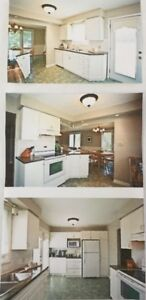 Full kitchen cupboards, counter tops and appliances