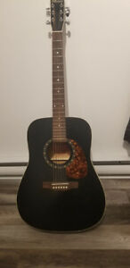 Norman B18 Black Cedar Protege Acoustic Guitar with Cover