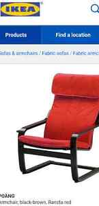 Ikea Poang Red Arm chair