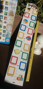 2 Grow Chart With Picture Frames  Plackard hard board NEW