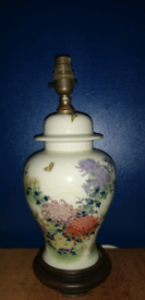Beautiful Flower and butterfly Lamp Base