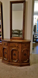 Hall Cabinet with Mirror Set