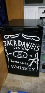 Bar Fridge Hand Painted Jack Daniels Logo