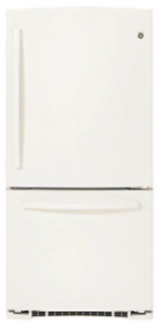 GE GDR20DTERWW Bottom Mount Refrigerator - White