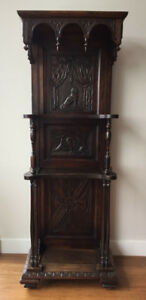 Antique Victorian-Era Whatnot Stand - Curio Shelves