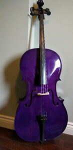Purple Student Cello with Soft Case