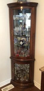 Corner Curio Cabinets, with lights
