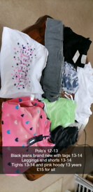 Girls clothes 12 yrs and 13-14 years