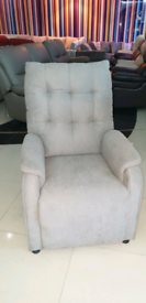 Grey Fabric Recliner Armchair free local delivery