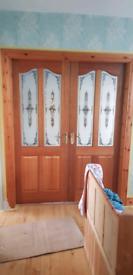 Doors glazed