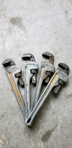 """18"""" Aluminum pipe wrenches"""