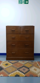 Large Vintage Mid Century Chest Of Drawers