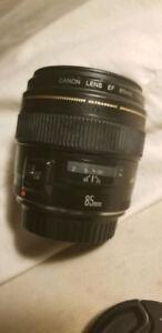 Lentille Canon EF 85mm 1.8
