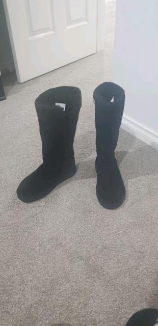 685bf8680c8 RRP $329 Waratah ugg water resistant zip up tall black boots 6 ...