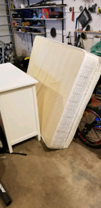 Twin plush bed dresser and frame