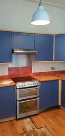 Kitchen units, Dishwasher, free standing cooker, sink and tap FREE