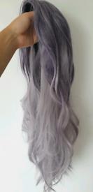 Purple Ombre Long Wig