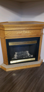 Napoleon Gas Fireplace with Wood Mantle