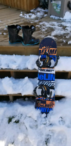 Snow board, boots, and bindings