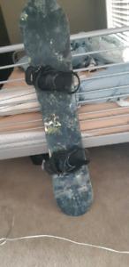 """147"""" burton snow board and bindings"""