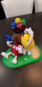 Like-New M&M's  Golf Candy Dispenser