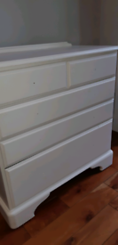 DUCAL White pine drawers