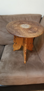 Indian hand carved sheesham wood, side table/plant stand with bo