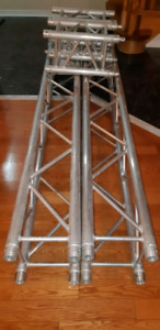 Pair of 6 ft Box truss (f34) with 1.7 ft extensions and plates