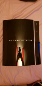 "80GB ""Fat"" PS3 & two controllers"