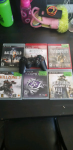 6 ps3 games and controller
