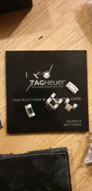 Tag aquaracer watch extra links and box